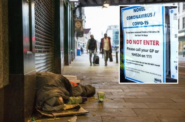 Glasgow homeless person