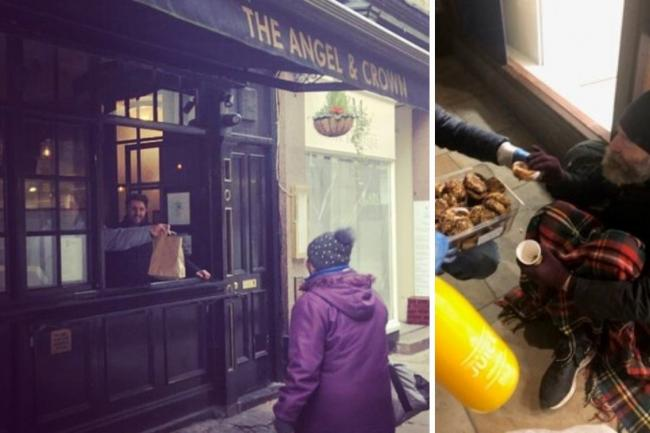 Pub serving food to homeless